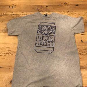 Bud Light Logo Men's T Shirt Size XL